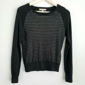 Banana Republic Crew Neck Sweater Black/ White
